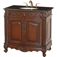 "Bramford 36"" Antique Wood Bathroom Vanity - Cherry H10015-36-CH"