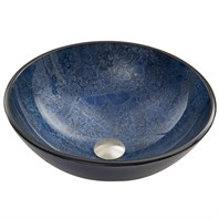 VIGO Indigo Eclipse Glass Vessel Sink VG07054