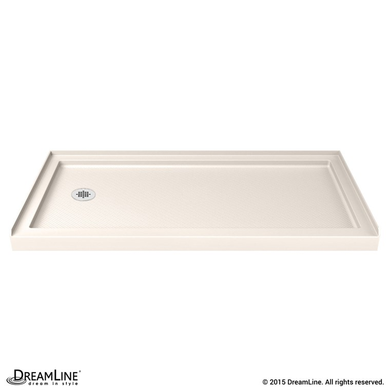 "Bath Authority DreamLine SlimLine Single Threshold Shower Base (32"" by 60"") - Biscuit DLT-113260-22"