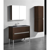 "Madeli Soho 42"" Bathroom Vanity for Quartzstone Top - Walnut B400-42-001-WA-QUARTZ"