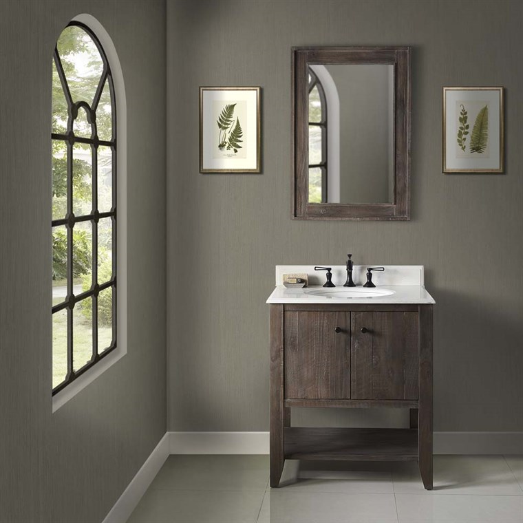 "Fairmont Designs River View 30"" Open Shelf Vanity for Undermount Oval - Coffee Bean 1516-VH30_"