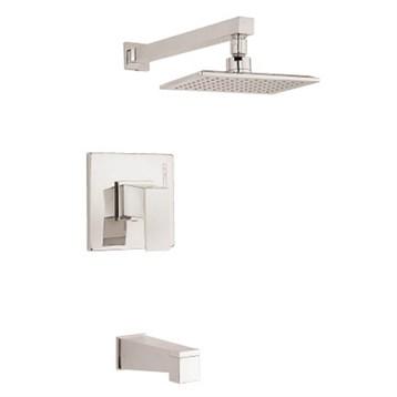 Danze Mid-Town 1H Tub & Shower Trim Kit w/ Diverter on Spout 2.0gpm, Polished Nickel D502062PNVT by Danze