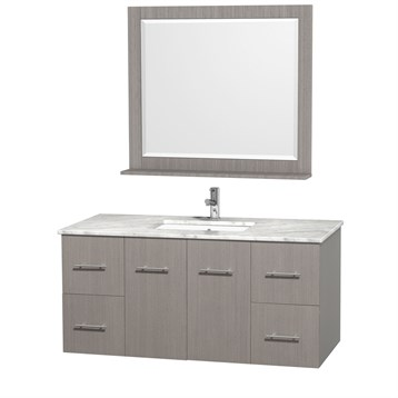 "Centra 48"" Single Bathroom Vanity for Undermount Sinks by Wyndham Collection, Gray Oak WC-WHE009-48-SGL-VAN-GRO- by Wyndham Collection®"
