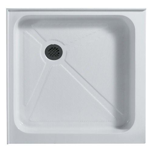 """Vigo Industries Square Double Threshold Shower Base - 32"""" x 32""""nohtin Sale $448.99 SKU: VG06019WHT3232 :"""