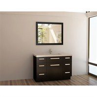 "Design Element Moscony 48"" Single Sink Vanity Set - Espresso J48-DS"