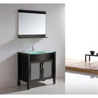 "Virtu USA Ava 36"" Single Sink Bathroom Vanity - Espresso UM-3071-G-ES"