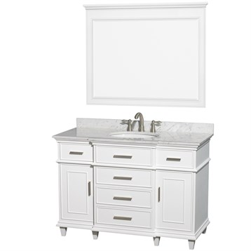 Berkeley 48 Single Bathroom Vanity by Wyndham Collection - White