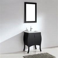 "Madeli Sorrento 27"" Bathroom Vanity with Quartzstone Top - Espresso Sorrento-27-EX-Quartz"