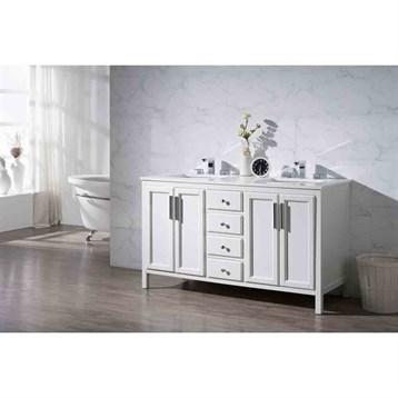 59 bathroom vanity double sink. Stufurhome Emily 59  Double Sink Bathroom Vanity With White Quartz Top Free Shipping Modern