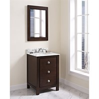 "Fairmont Designs Uptown 24"" Vanity for Undermount Oval Sink - Espresso 1519-V24_"