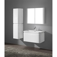"Madeli Euro 36"" Bathroom Vanity with Integrated Basin - Glossy White Euro-36-GW"