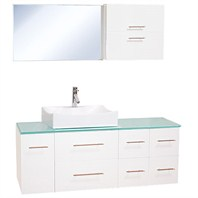"Christo 54"" Modern Bathroom Vanity Set - White WHE010-WHT"