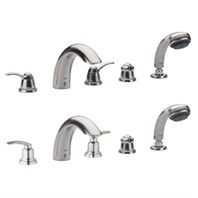 Grohe Talia 5-Hole Roman Tub Filler - Infinity Brushed Nickel