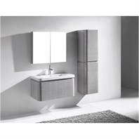 "Madeli Euro 36"" Bathroom Vanity with Integrated Basin - Ash Grey B930-36-002-AG"