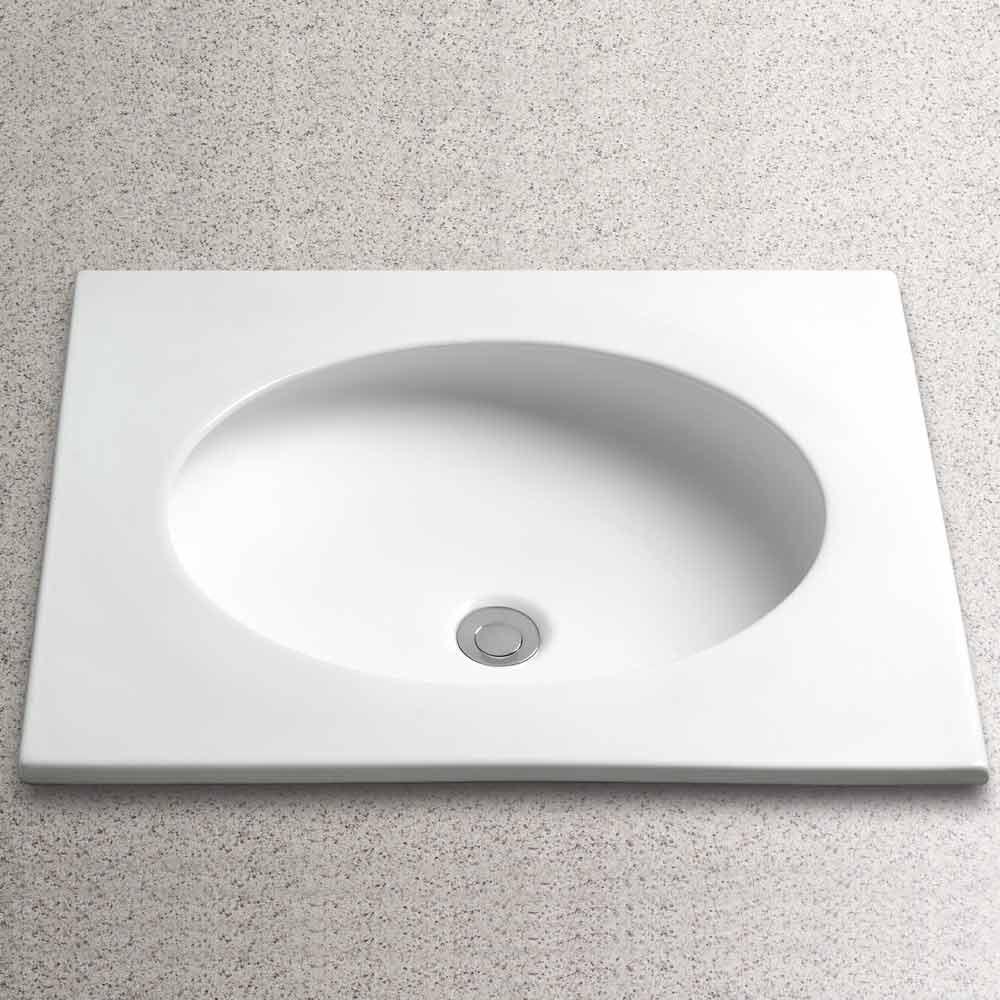 "TOTO Curva Self-Rimming Lavatory, 22"" x 19""nohtin Sale $430.00 SKU: LT180 :"