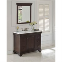 "Fairmont Designs Providence 42"" Vanity for Integrated Sink - Aged Chocolate 1529-V42-"