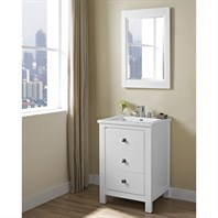 "Fairmont Designs Uptown 24"" Vanity for Integrated Sinktop - Glossy White 1520-V24-"