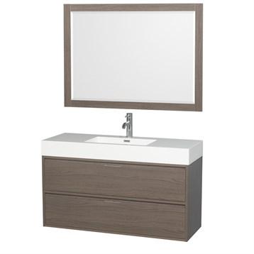 "daniella 48"" wall-mounted bathroom vanity set with integrated sink"