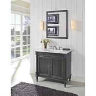 "Fairmont Designs Rustic Chic 36"" Vanity for Integrated Top - Silvered Oak 143-V36-"