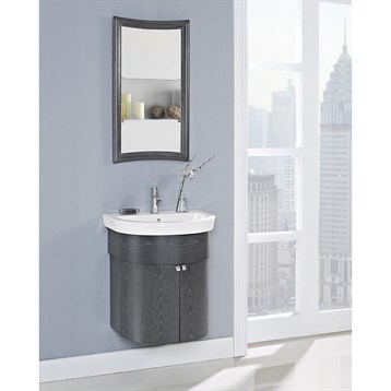 fairmont designs boulevard 24 curved wall mount vanity and sink set