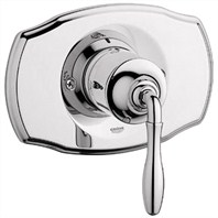 Grohe Seabury Pressure Balance Valve Trim with Lever Handle - Sterling Infinity Finish