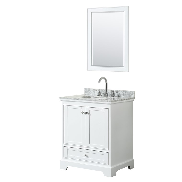 "Deborah 30"" Single Bathroom Vanity by Wyndham Collection - White WC-2020-30-SGL-VAN-WHT"