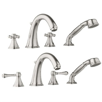 Grohe Geneva Roman Tub Filler, Infinity Brushed Nickel by GROHE