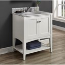 "Fairmont Designs Shaker Americana 30"" Vanity - Open Shelf - Polar White 1512-VH30_"