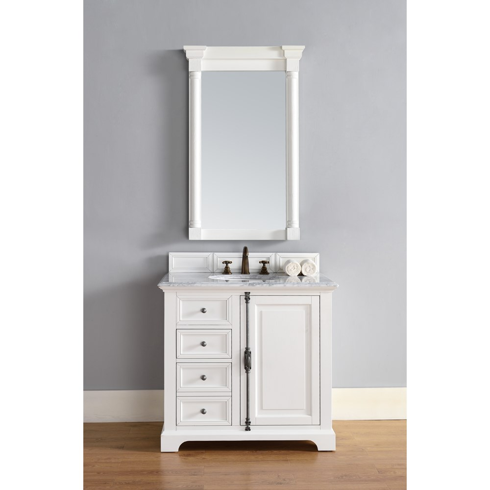 "James Martin 36"" Providence Single Cabinet Vanity - Cottage Whitenohtin Sale $975.00 SKU: 238-105-V36-CWH :"