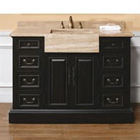 "James Martin 48"" Boston Single Vanity - Black 206-001-5177"