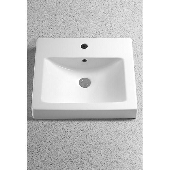 TOTO Vernica™ Design II Self Rimming Lavatory - Cotton Whitenohtin Sale $719.00 SKU: LT155 :