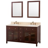 "Avanity Lexington 60"" Double Bathroom Vanity - Light Espresso AVA9404-60-LESP"