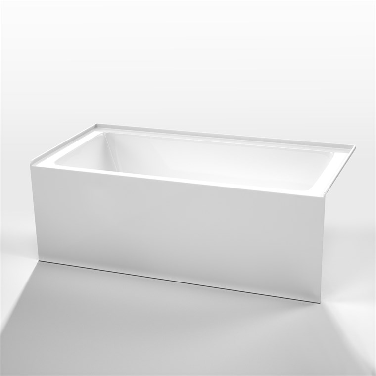 "Antigua 67"" Soaking Bathtub by Wyndham Collection - White WC-BTK1533-67"
