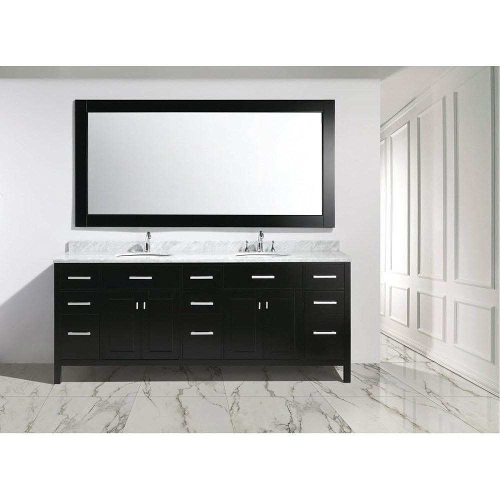 "Design Element London 84"" Double Sink Vanity Set - Espressonohtin Sale $2199.00 SKU: DEC076-84 :"