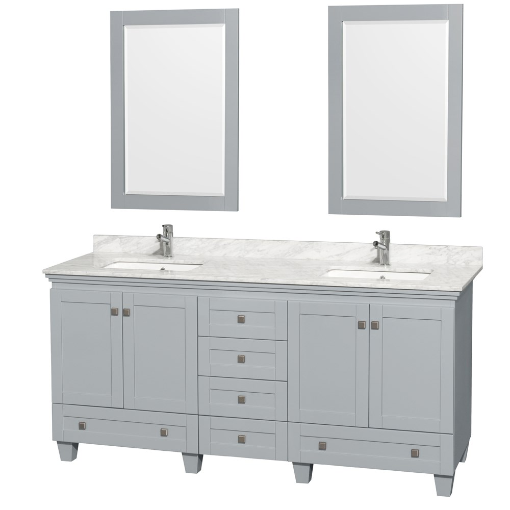 Acclaim 72 inch Double Bathroom Vanity by Wyndham Collection Oyster Gray