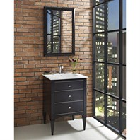 "Fairmont Designs Charlottesville 24"" Vanity for Integrated Sinktop - Vintage Black 1511-V24-"