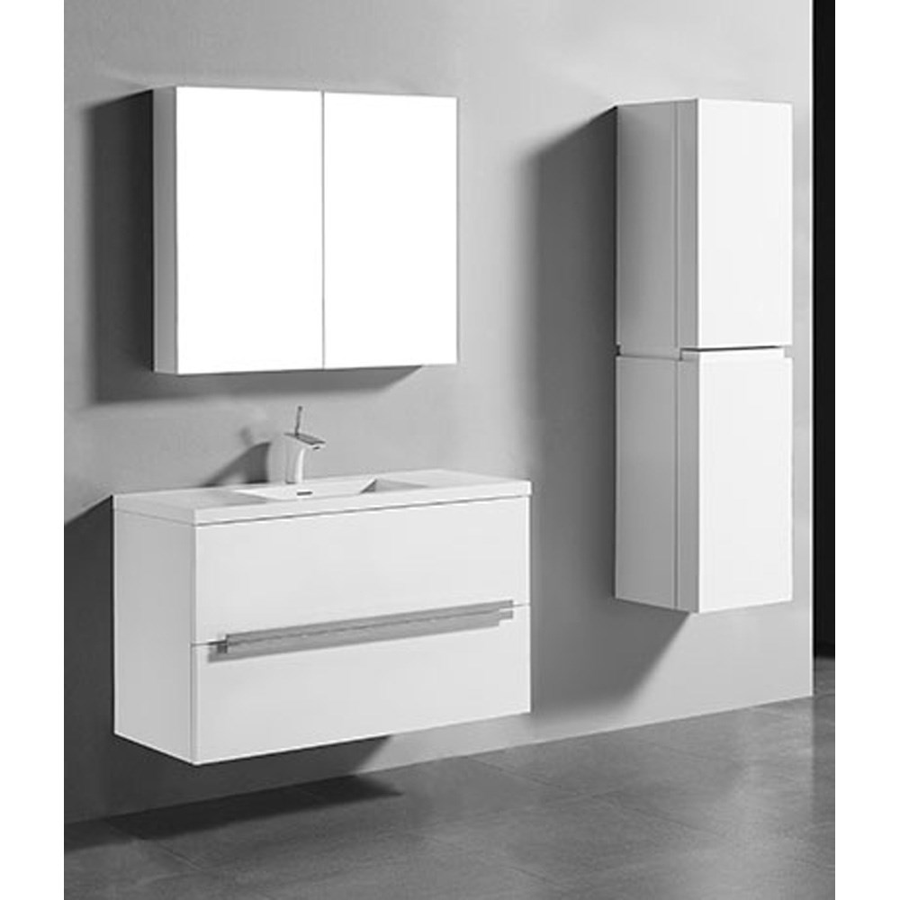 madeli urban 42 bathroom vanity for integrated basin glossy white rh modernbathroom com