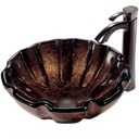 VIGO Walnut Shell Glass Vessel Sink and Faucet Set in Oil Rubbed Bronze VGT195