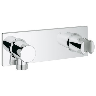 Grohe Grohtherm F Wall Union with Integrated Hand Shower Holder - Starlight Chrome GRO 27621000
