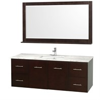 "Centra 60"" Single Bathroom Vanity for Undermount Sinks by Wyndham Collection - Espresso WC-WHE009-60-SGL-VAN-ESP-"