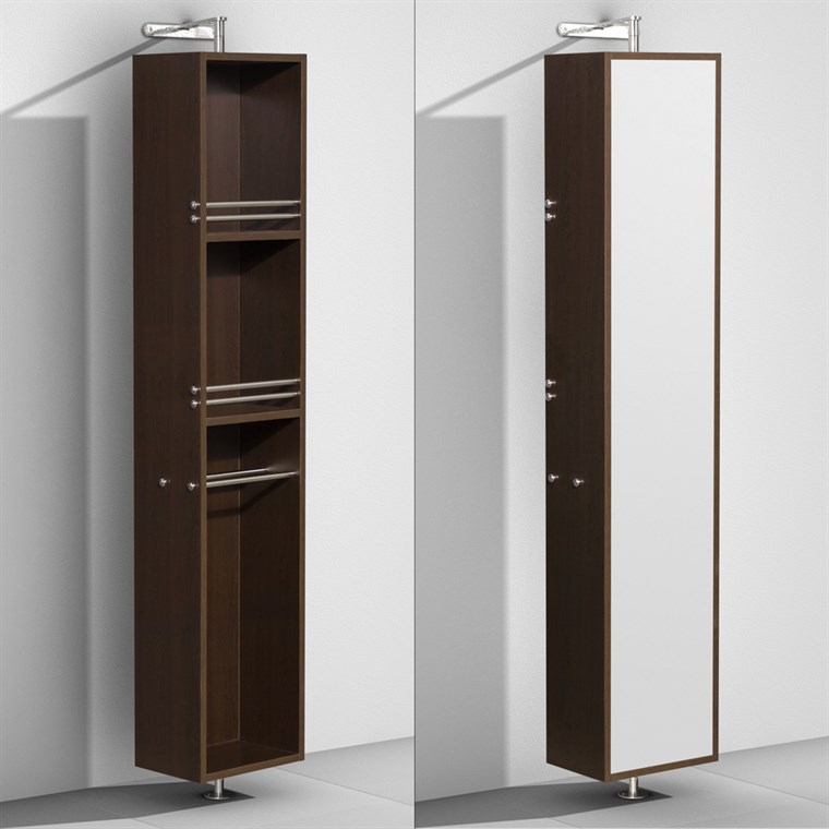 Amare Rotating Floor Cabinet with Mirror by Wyndham Collection - Espresso WC-RYV202-ESP