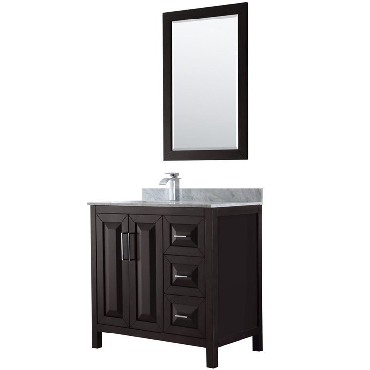 "Daria 36"" Single Bathroom Vanity by Wyndham Collection - Dark Espresso WC-2525-36-SGL-VAN-DES"