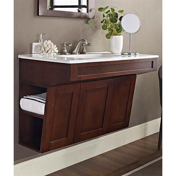 "Fairmont Designs Shaker 36"" Wall Mount ADA Vanity - Dark ..."