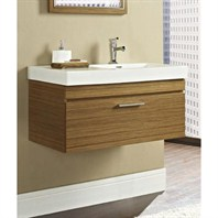 "Fairmont Designs Metropolitan 36"" Wall Mount Vanity & Sink Set - Ash Blonde 176-WV36R"