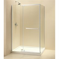 "Bath Authority DreamLine Quatra Frameless Pivot Shower Enclosure (34-5/16"" by 46-5/16"") SHEN-1134460"