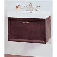 "Fairmont Designs Caprice 30"" Wall Mount Vanity & Sink Set - Espresso 110-WV30"