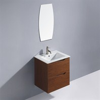 Vigo 24-inch Suzetta single Bathroom Vanity with Mirror - Wenge VG09037118K
