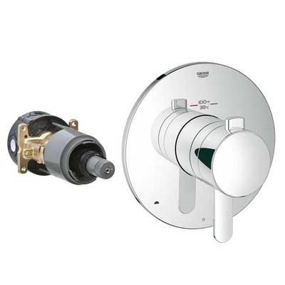Grohe GrohFlex Cosmopolitan Dual Function Thermostatic Trim with Control Modulenohtin Sale $365.99 SKU: GRO 19878 :