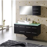 "Virtu USA Ceanna 55"" Single Sink Bathroom Vanity - Espresso MS-430"