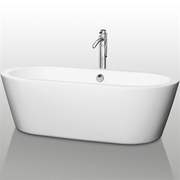 Mermaid 71 soaking bathtub by wyndham collection free for Most comfortable tub reviews